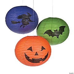 Jumbo Hanging Paper Lanterns Halloween Decorations