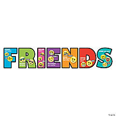 Jumbo How To Be A Friend Letter Cutouts