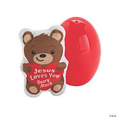 Jumbo Jesus Loves You Beary Much Stuffed Bear-Filled Easter Eggs