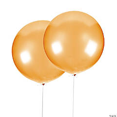 "Jumbo Metallic Gold 36"" Latex Balloons"