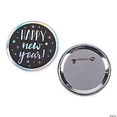 Jumbo New Year's Eve Buttons