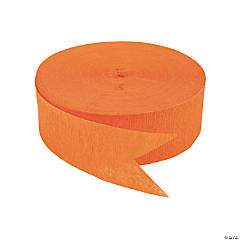Jumbo Orange Paper Streamer