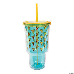 Jumbo Pizza Tumbler with Straw