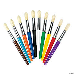Jumbo Plastic Colorful Chubby Brush Set