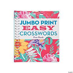Jumbo Print Easy Crosswords Book