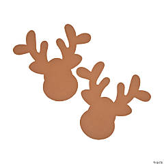 Jumbo Reindeer Head Shapes