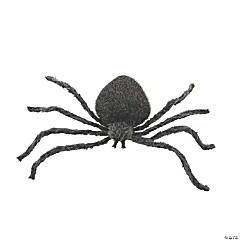 Jumbo Stuffed Spider with Light-Up Eyes Halloween Decoration