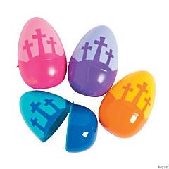 Jumbo Three Cross Plastic Eggs - 12 Pc.
