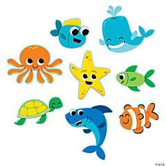 Jumbo Under the Sea Cutouts