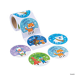 Jumbo Winter Critters Stickers