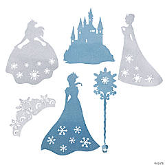 Jumbo Winter Princess Glitter Cutouts