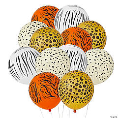 Jungle Animal Print Latex Balloons