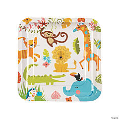 Jungle Baby Shower Dinner Plates