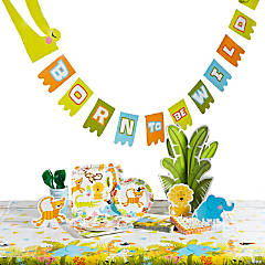 Jungle Baby Shower Tableware Kit for 24 Guests