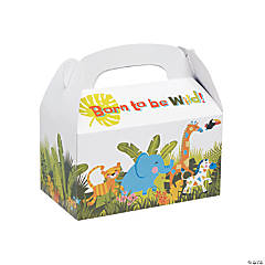 Jungle Baby Shower Treat Boxes