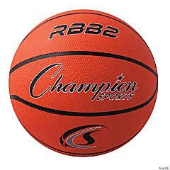 Junior Rubber Basketball, Orange, Set of 3