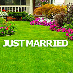 Just Married Letters Yard Sign