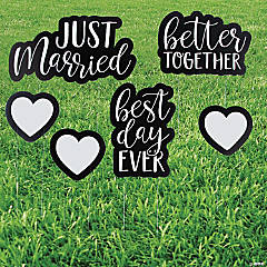Just Married Yard Sign Set