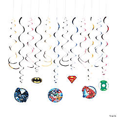 Justice League™ Hanging Swirl Decorations - 12 Pc.