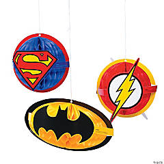 Justice League™ Honeycomb Decorations