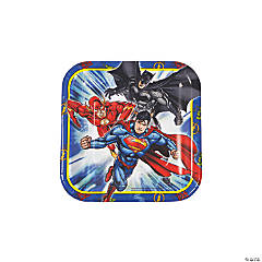 Justice League™ Paper Dessert Plates - 8 Ct.