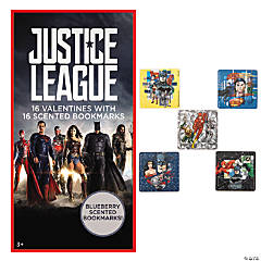 Justice League™ Valentines with Stickers & Scented Bookmarks