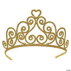 Kelsey Gold Glittered Metal Tiara