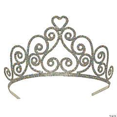 Kelsey Silver Glittered Metal Tiara