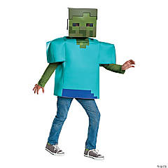 Kid's Classic Minecraft Zombie Halloween Costume - Large