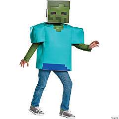 kids classic minecraft zombie halloween costume