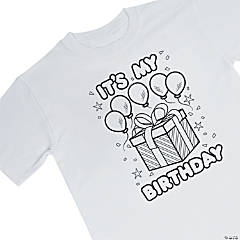 Kid's Color Your Own Birthday Shirt - L