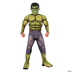 Kid's Deluxe Hulk Costume - Large