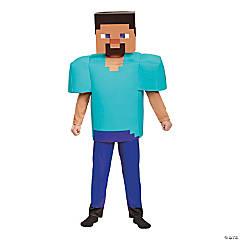 Kid's Deluxe Minecraft Steve Halloween Costume - Sizes 10-12