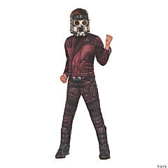 Kid's Deluxe Muscle Chest Star-Lord Costume- Large