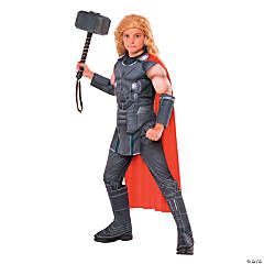 Kid's Deluxe Muscle Chest Thor Costume- Large