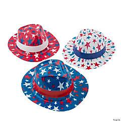 Kid's Patriotic Fedora Hats with Bands