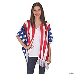 Kid's Patriotic Flag Kimono Vest