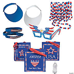 Kid's Patriotic Swag Bag Kit for 12