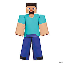 Kid's Prestige Minecraft Steve Halloween Costume - Sizes 10-12