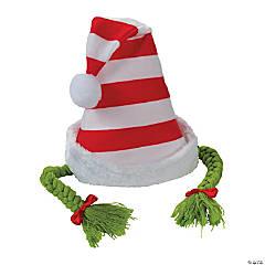 Kid's Striped Santa Hat with Braids