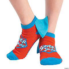 Kid's Superhero Ankle Gripper Socks - Large