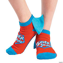 Kid's Superhero Ankle Gripper Socks - Medium