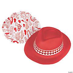 Kid's Valentine Fedora Hats