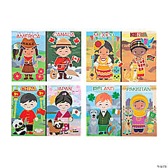 Kids Around the World Mini Sticker Scenes