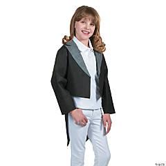 Kids' Black Tuxedo Jacket with Tails