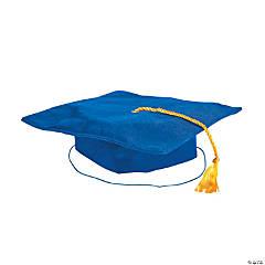 Kids' Blue Shiny Elementary School Graduation Mortarboard Hat