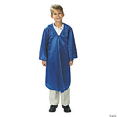 Kids' Blue Shiny Elementary School Graduation Robe