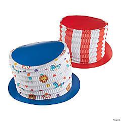 Kid's Bright Carnival Accordion Top Hats