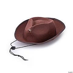 Kids' Brown Cowboy Hats - 12 Pc.