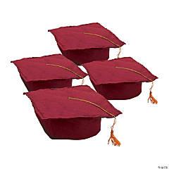 Kids' Burgundy Felt Elementary School Graduation Mortarboard Hats